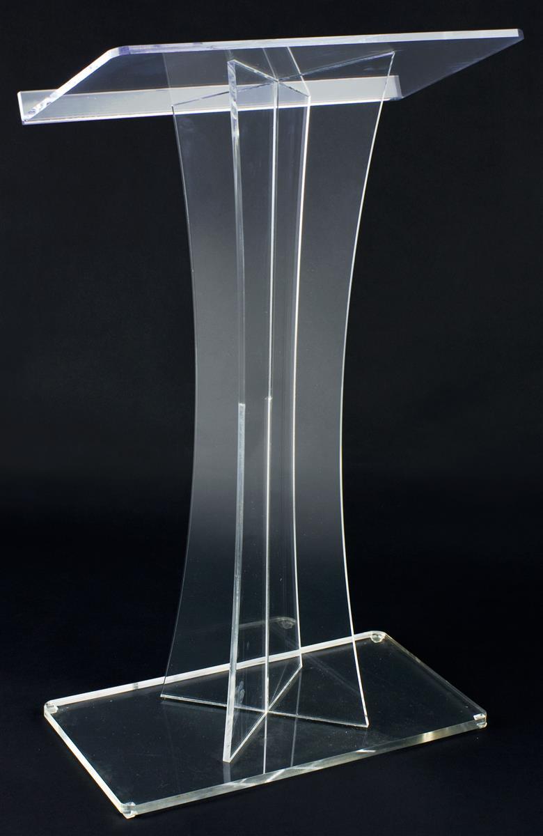 Displays2go Workshop Series Acrylic Podiums for Floor, X-...