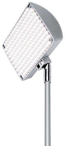 Clamp on LED spotlight with 90° Vertical and 270° Horizontal Head Swivel Motion