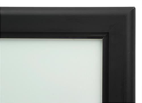 "24"" x 36"" LED Backlit Frame with Black Anodized Finish"