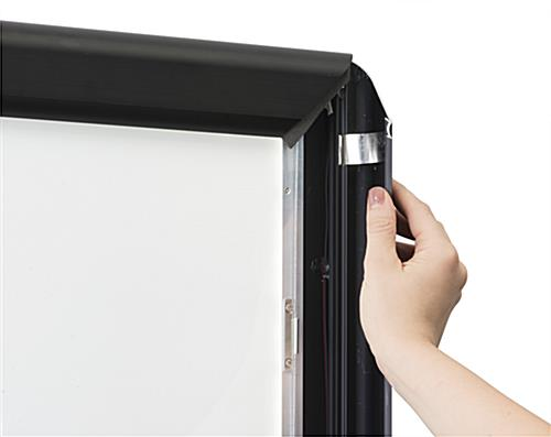 Snap-Open Slim LED Poster Display