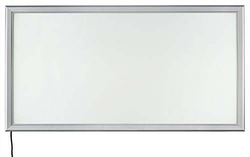 Indoor Silver LED Backlit Snap Frame