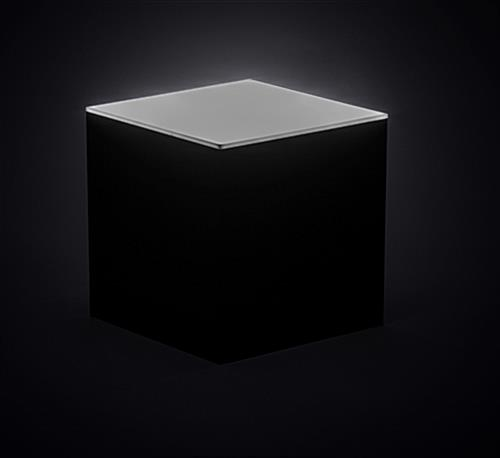 Light up LED acrylic box riser countertop display