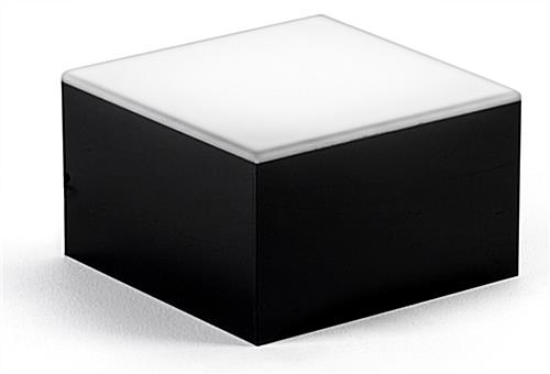 Cube LED light base riser for glass art