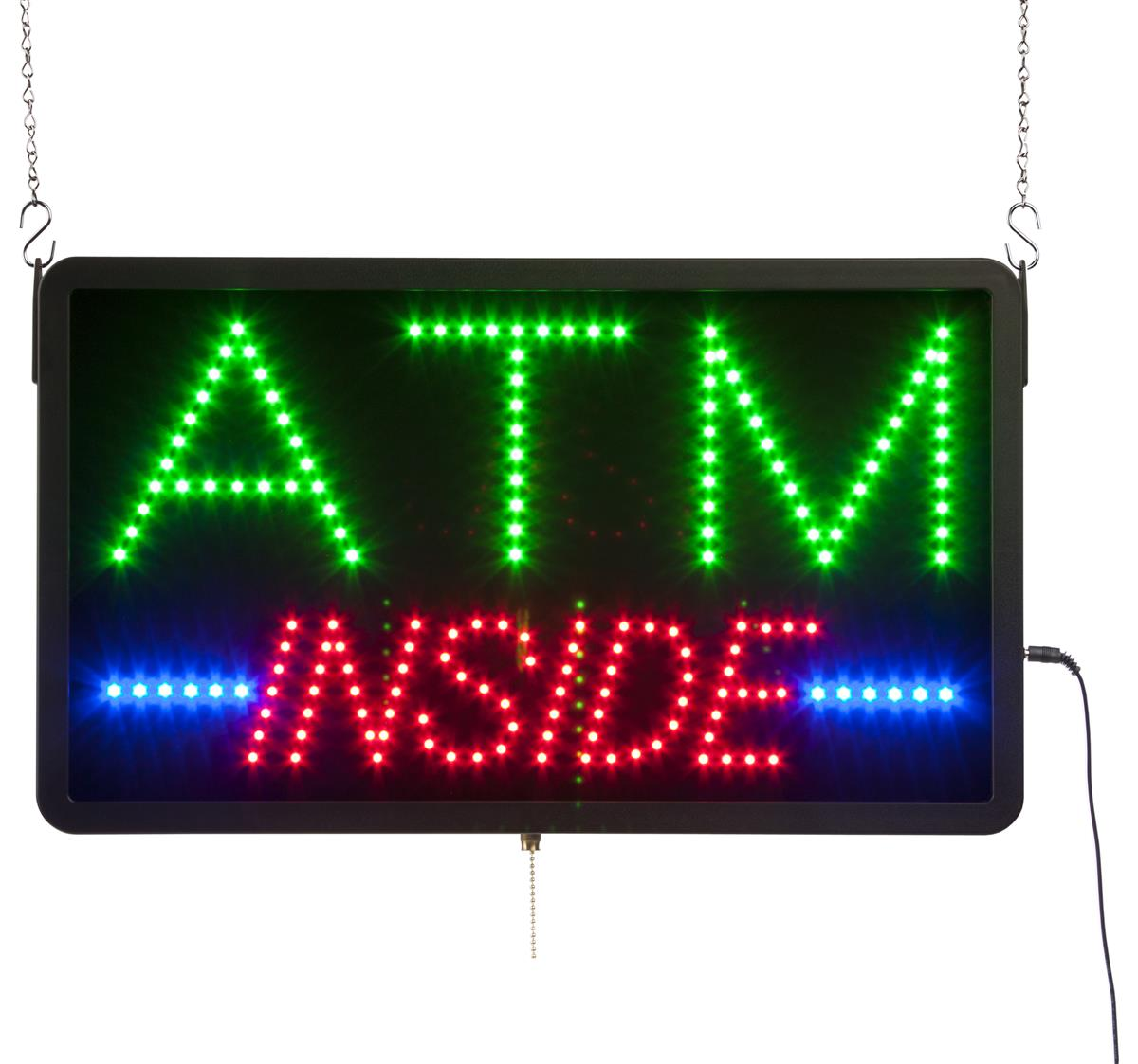 Displays2go ATM INSIDE Animated LED Sign with Chains, Rec...