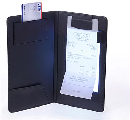 No Credit Check Credit Cards >> LED Check Presenter | Magnetic Bill Holder Clasp & Card Slot