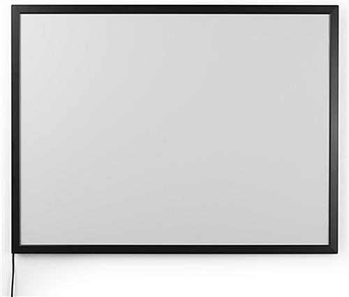 Black 30 x 40 Illuminated Frame with Long Power Cord
