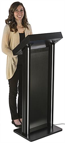 "LED Lectern with 18.31"" Drawer Width"