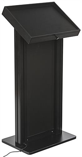 Black LED Podium with Graphic