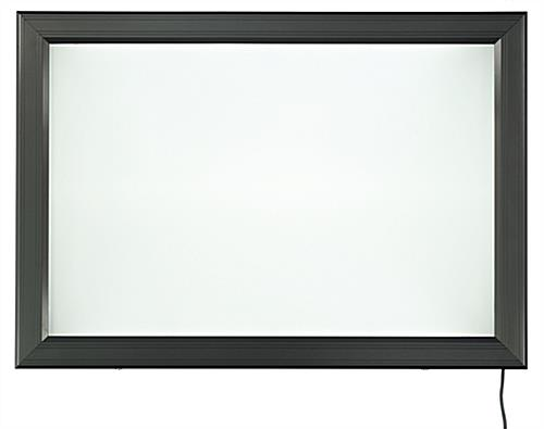 Wall-Mounted Black LED Backlit Frame