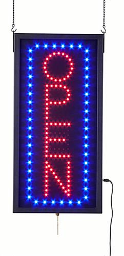 Lighted Open Sign Red Amp Blue Animated Flashing