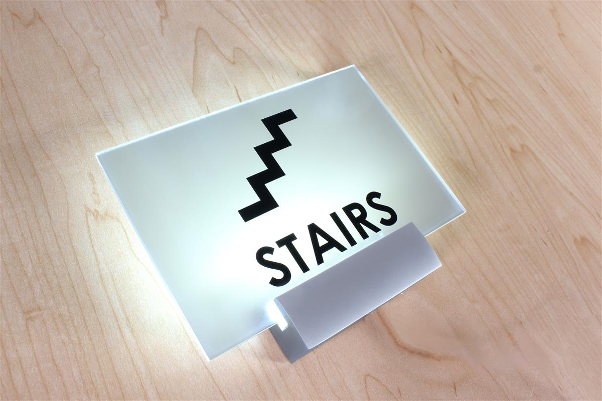 Led Sign Standoff Backlit Illuminated Sign Rail For Wall