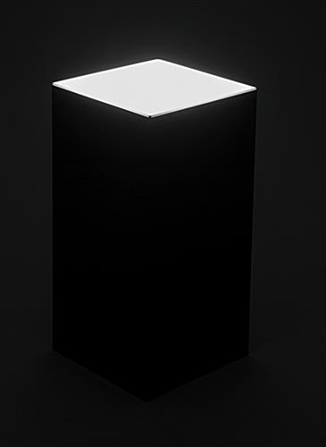 Black acrylic illuminated top pedestal riser