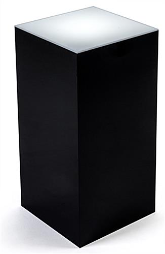 Black illuminated top pedestal riser