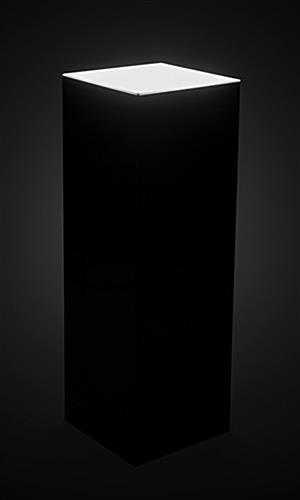 LED lighted black riser pedestal