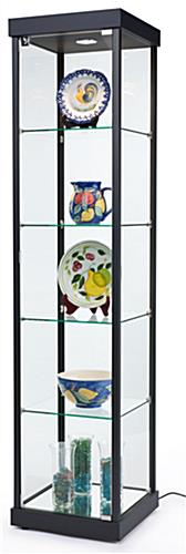 LED Tower Display Case, Black