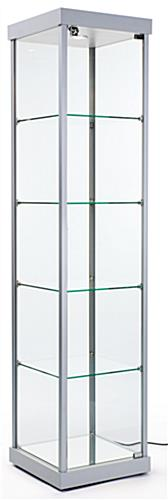 Illuminated Tower Display Cabinet   LED Recessed Lighting