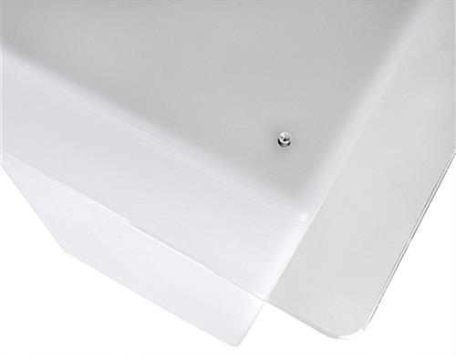 Replacement tabletop for FDLED18 series tables with clear screws