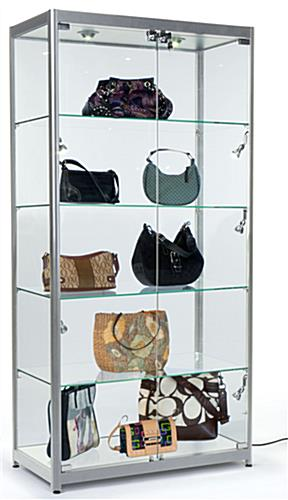 LED Illuminated Display Cabinet, Aluminum Frame