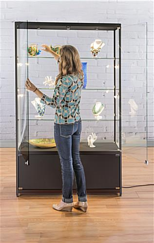 LED Retail Display Cabinet with Adjustable Leveling Feet