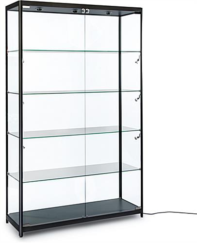 modern led display cabinet electrical cord with switch. Black Bedroom Furniture Sets. Home Design Ideas