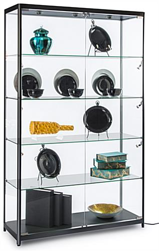 Black Modern LED Display Cabinet