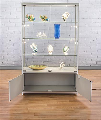 LED Retail Showcase with Storage Area