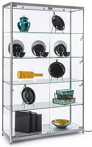 Silver Wide LED Display Case