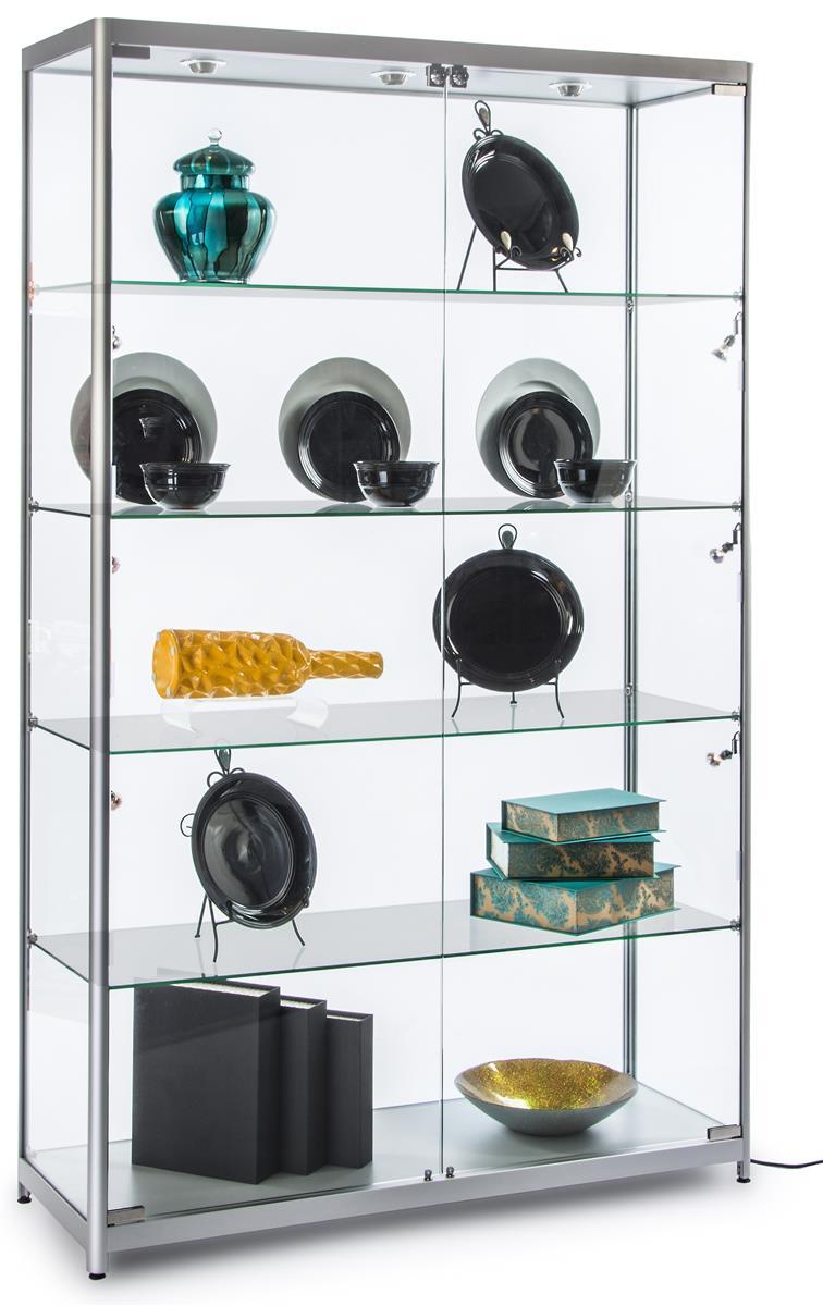 wide led display case anodized aluminum frame. Black Bedroom Furniture Sets. Home Design Ideas