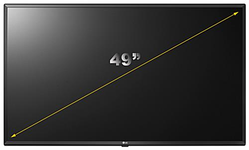 Digital signage TV with 49 inch screen