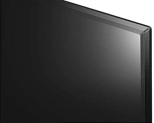 4k SuperSign TV with ceramic black finish