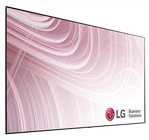 Digital advertising TV with sleek black attachable legs