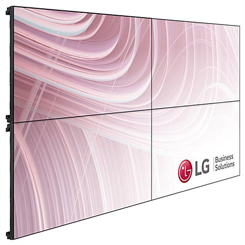 4 TV video wall system with 2x2 tile configuration