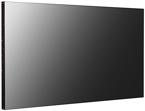 2.25 millimeter thin bezel TV for video wall with anti-glare surface coating