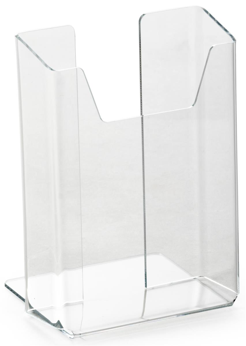 Tabletop plastic flyer holder clear acrylic pocket for for Plastic flyer stand