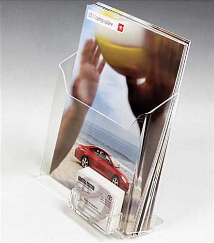 8 5 X 11 Acrylic Literature Holder Business Card Pocket