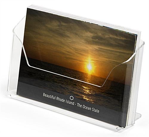 "Greeting Card Display 16 Pocket Horizontal 6x4/"" Post Card Holder Rack Stand"