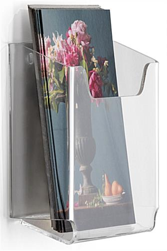 Angled Wall Mounting Brochure Holder