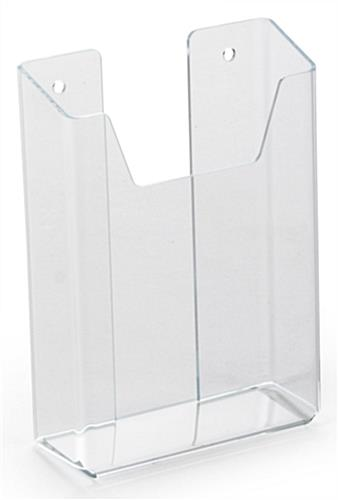 Single Pocket Plexiglass Brochure Holder