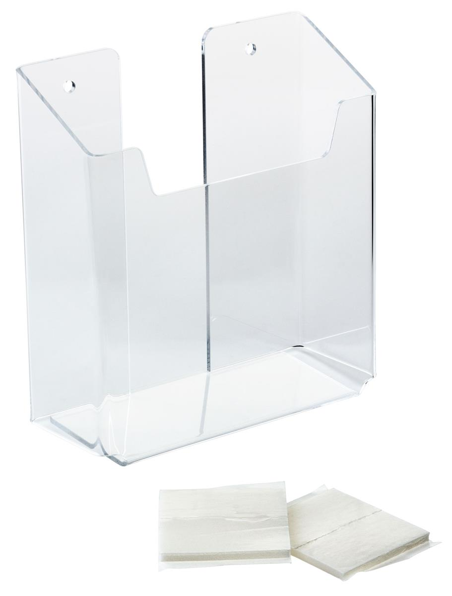 Plexi Glass Brochure Holder Wall Pocket For 5 5 Quot Literature