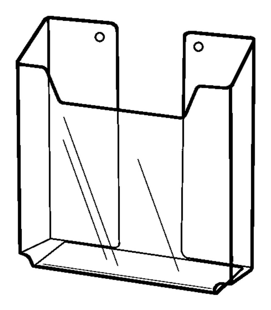 "Plymor Acrylic 2-Shelf CD//DVD Display Shelving 21.25/"" H x 24.5/"" W x 8.25/"" D"