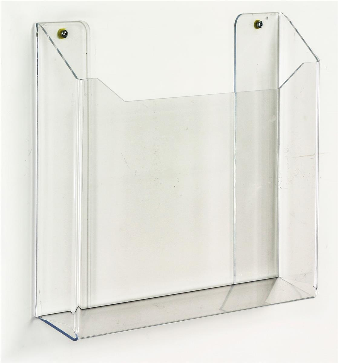 wall newspaper display rack  clear single pocket acrylic holder -