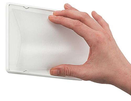 A6 Sign Holder with Protective Lens
