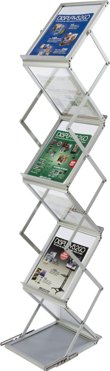 Portable Cabinets For Display : This portable catalog rack is perfect for your next trade