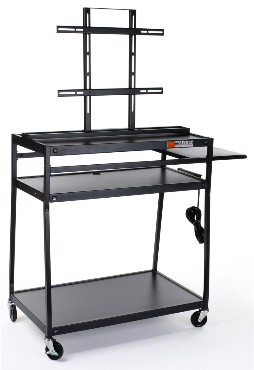 """Displays2go TV Cart with Mount for 40"""" to 55"""" Monitors, S..."""