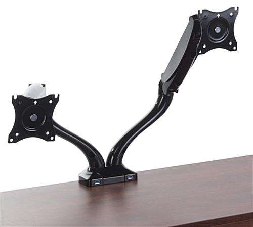 "Dual Arm Monitor Mount for 13"" to 27"" Screens"