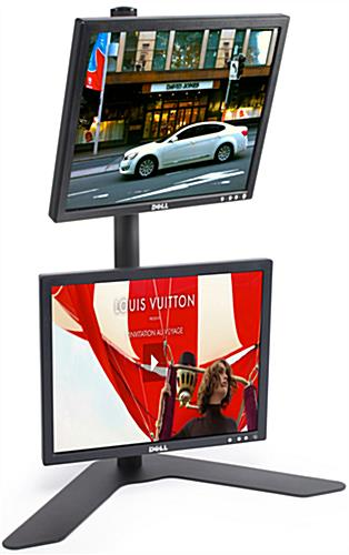 "Dual Monitor Stand Can Mount Two 23"" Displays!"