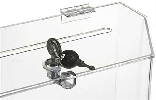 Clear Suggestion Box with Brochure Pockets & Ballot Slot