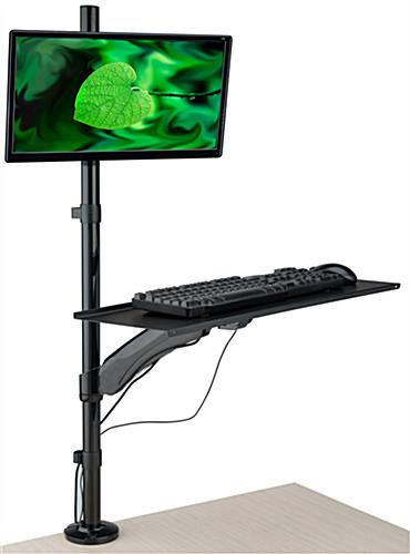 Swiveling Extra Tall Monitor Arm