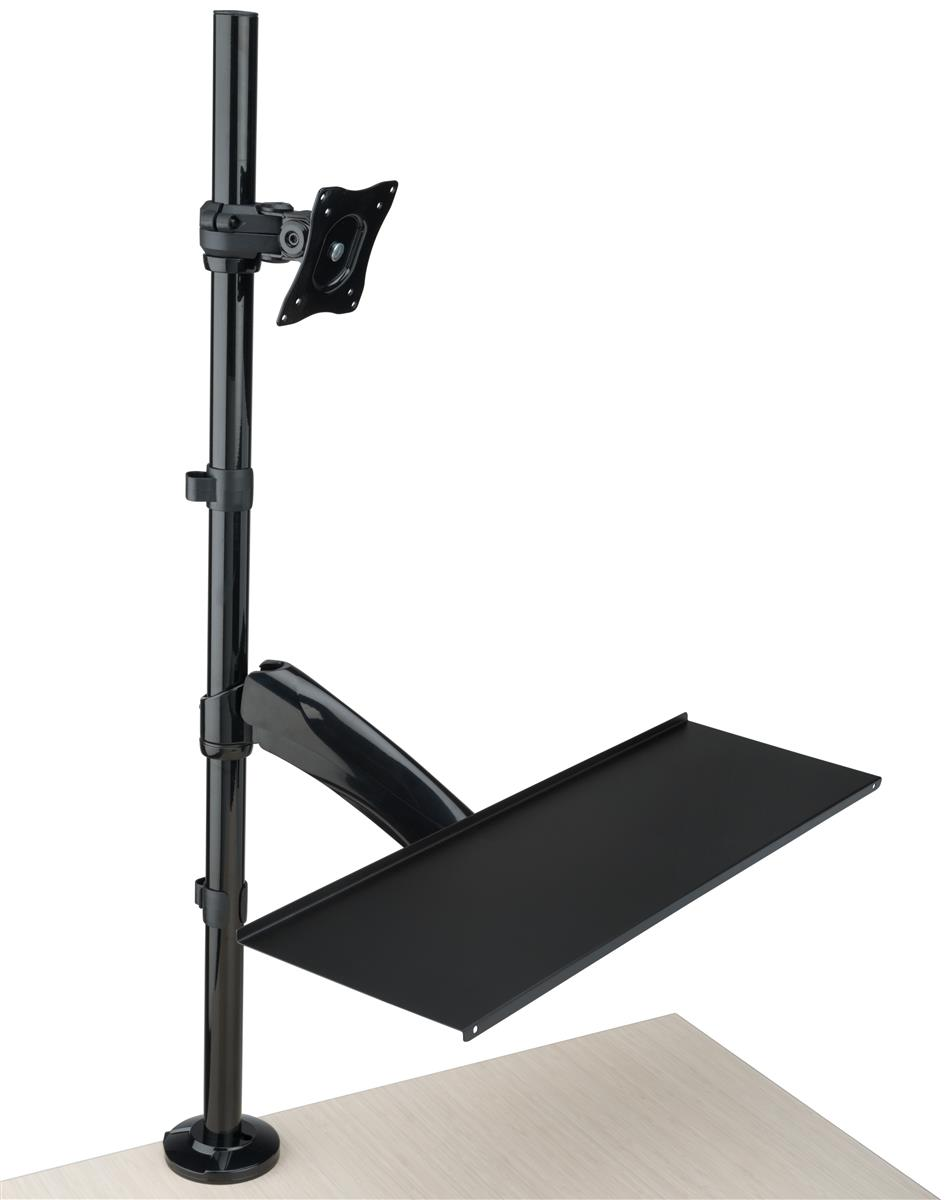 Extra Tall Monitor Arm Integrated Cable Management