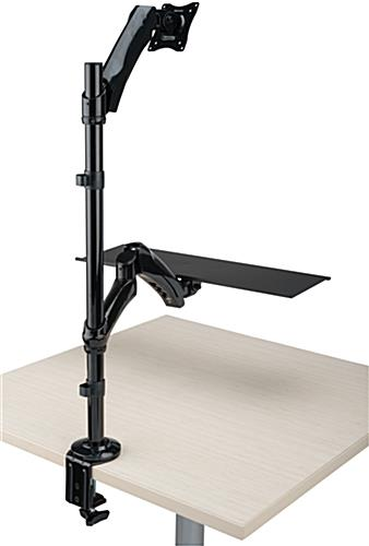 Height Adjustable Sit Stand Monitor Arm